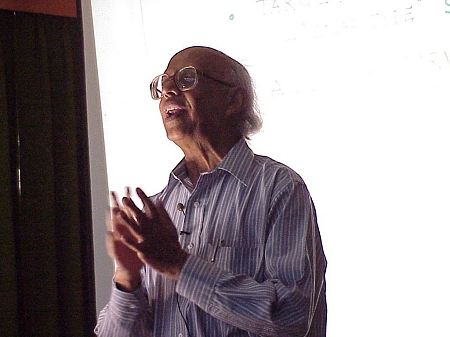Prof. Govind Swarup, the father of Indian radio astronomy (N6TX photo)