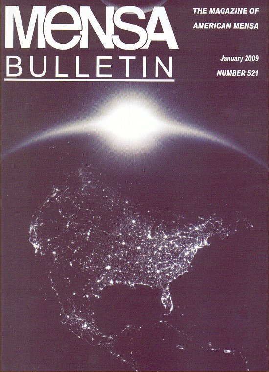 Mensa Bulletin #521 cover